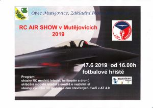 Plakát RC Air Show Mutějovice 2019